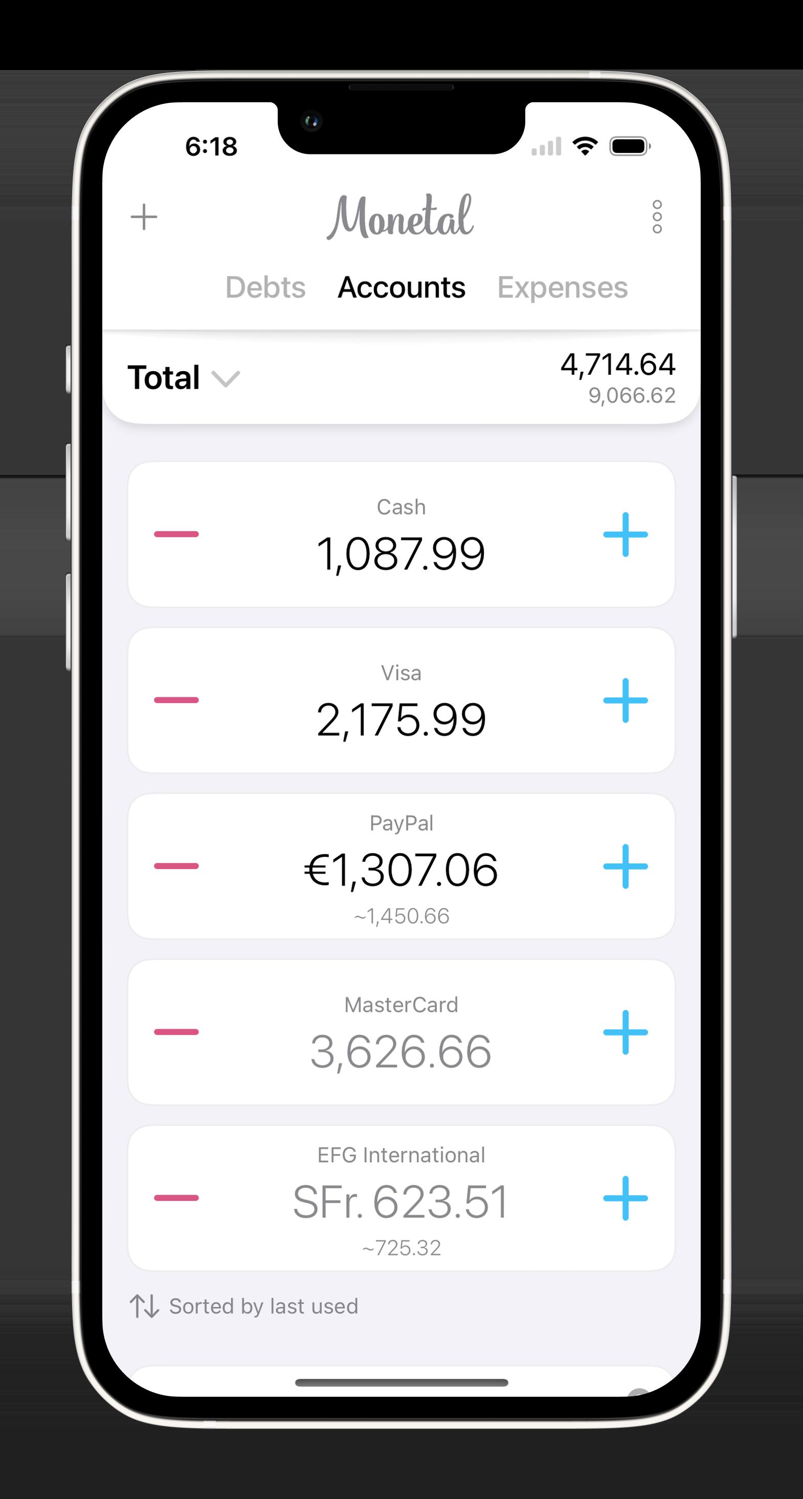 Monetal - expense tracker